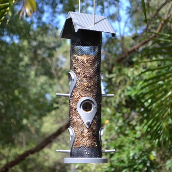 Classic-Tube-Bird-Feeder-(Grey)-Featured