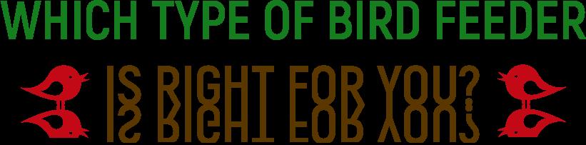 Bird feeder types Banner