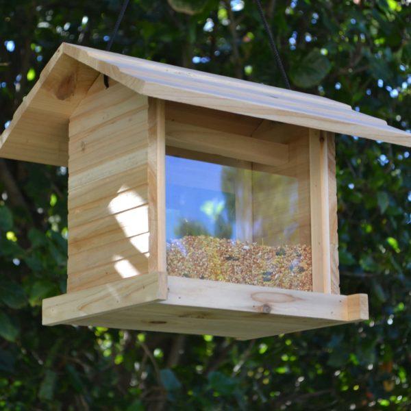 Wooden Bird Feeder for Australian wild birds Cafe Feeder image 1