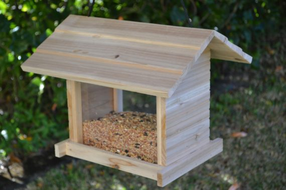 Wooden Bird Feeder for Australian wild birds Cafe Feeder image 2