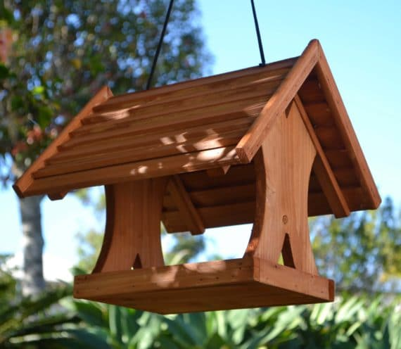 Wooden Bird Feeder for Australian wild birds Lodge Feeder image 9