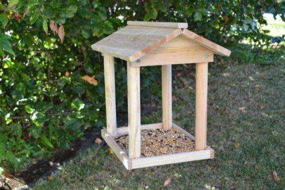 Wooden Bird Feeder for Australian wild birds Pavilion Feeder image 1