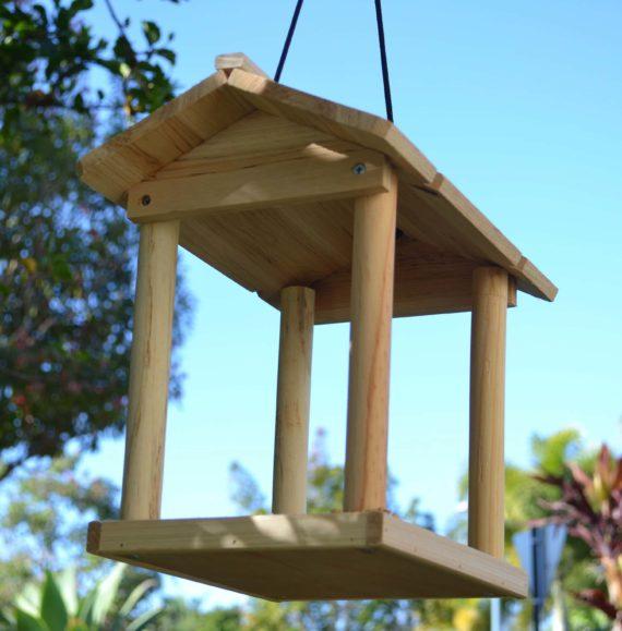 Wooden Bird Feeder for Australian wild birds Pavilion Feeder image 3