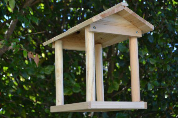 Wooden Bird Feeder for Australian wild birds Pavilion Feeder image 4