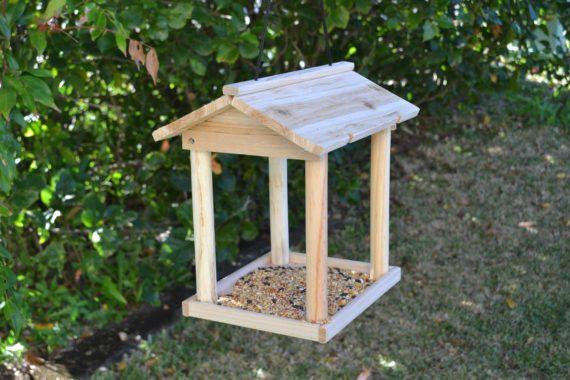 Wooden Bird Feeder for Australian wild birds Pavilion Feeder image 6