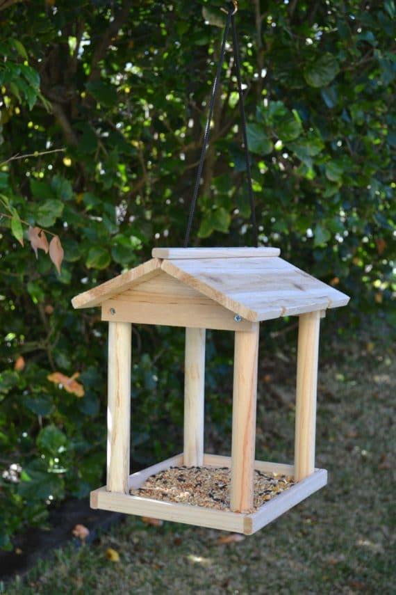 Wooden Bird Feeder for Australian wild birds Pavilion Feeder image 7