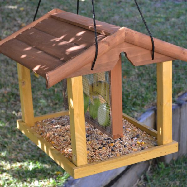 Wooden Bird Feeder for Australian wild birds Mansion Feeder image 5